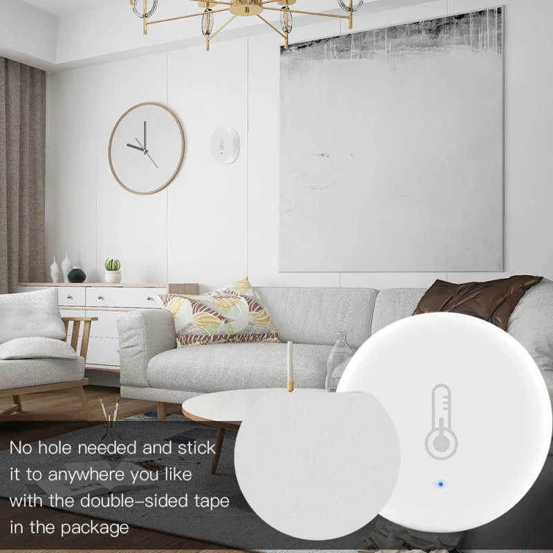 Sensor Indoor Hygrometer Temperature And Humidity Detector Support Built-in Battery APP Smart Home Building Automation Smart