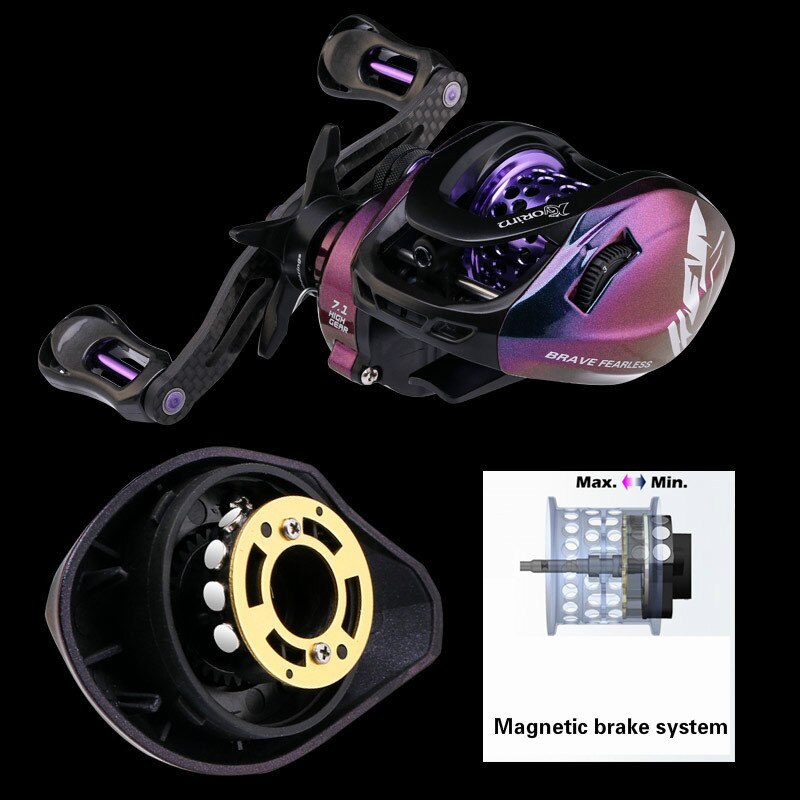 6.4:1 Baitcast Fishing Reel Rock Wedkarstwo Wheels Metal Fishing Vessel with Alarm System 9KG Max Drag Carrete De Pesca enlarge