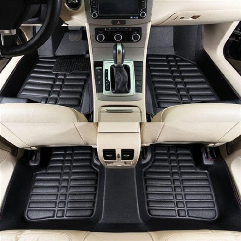 5PCS Car Floor Mats Universal Car Auto Floor Mats Anti-Slip Mat FloorLiner Front&Rear Carpet Mat Firm Soft Car Accessories