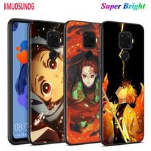 Black Cover Demon Slayer Kimetsu no Yaiba for Huawei Mate 30 20 20X 10 Lite Y9 Y7 Y6 Y5 Pro Prime Lite 2019 2018 Phone Case
