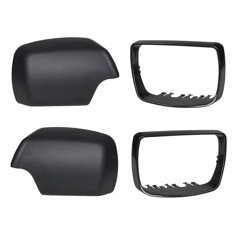 Para Bmw E53 X5 2000-2006 lado para espejo retrovisor de puerta embellecedor anillo marco espejo tapa negro coche vivienda parte izquierda/derecha