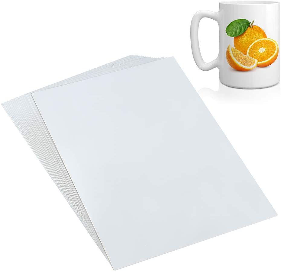 A4 Size 20 Sheets Clear Waterslide Decal Paper for Inkjet Printer, Water-Slide Transfer Transparent Printable Paper Sheets