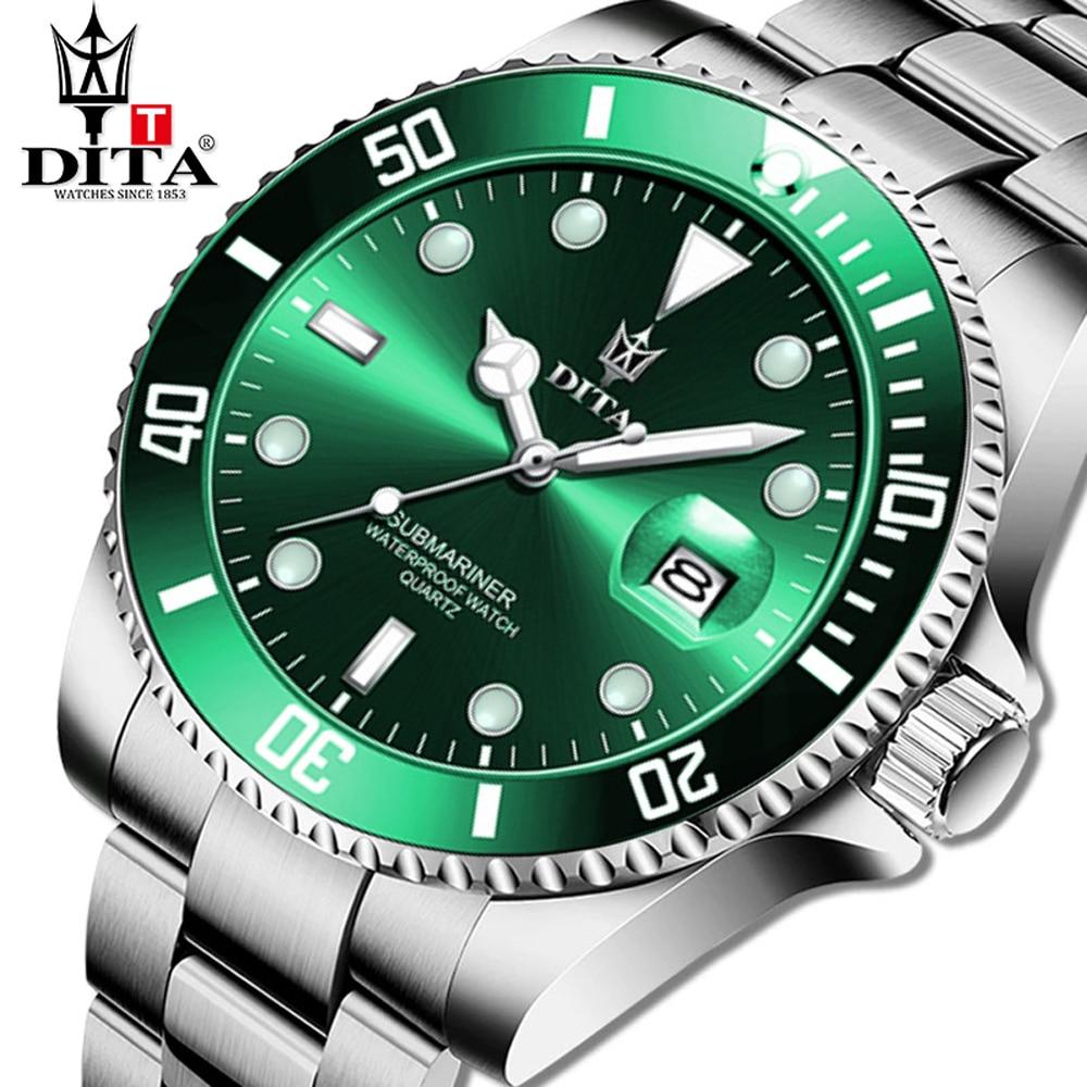 DITA Top Brand Luxury Fashion Dive Watch For  Men 3ATM Waterproof Date Clock Sport Watches  Quartz W