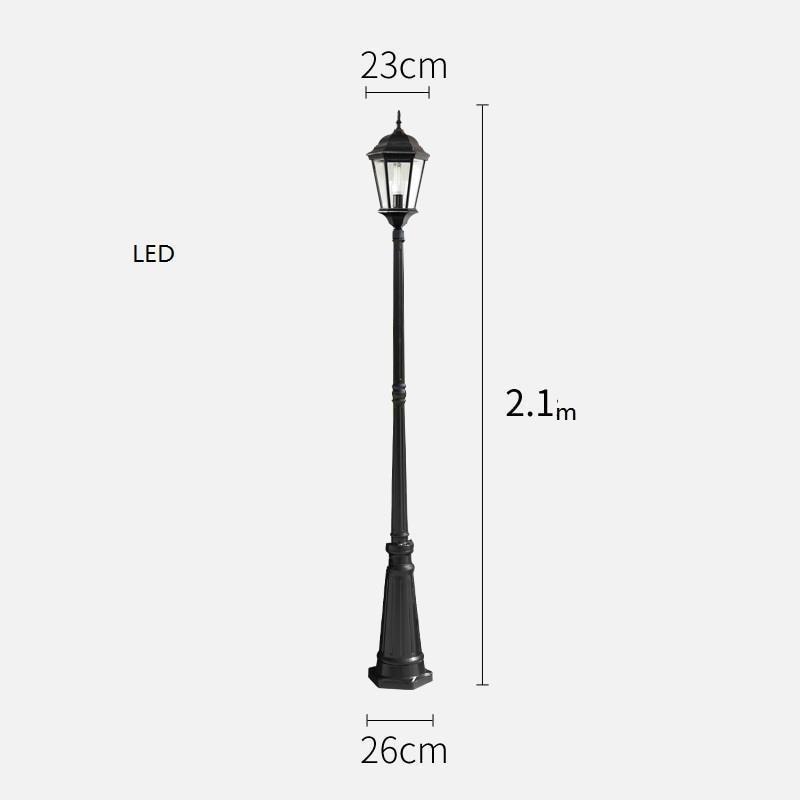 Lampione Giardino Lampioni Da Esterno Iluminador Jardin Luminaire Exterieur Plaza Lamp Uliczna Led Off Street Road Light enlarge