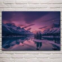 Hermoso espíritu isla frambuesa lago jaspe Parque amanecer paisaje sala de estar casa Arte de la pared Decoración marco de madera y tela carteles KM487