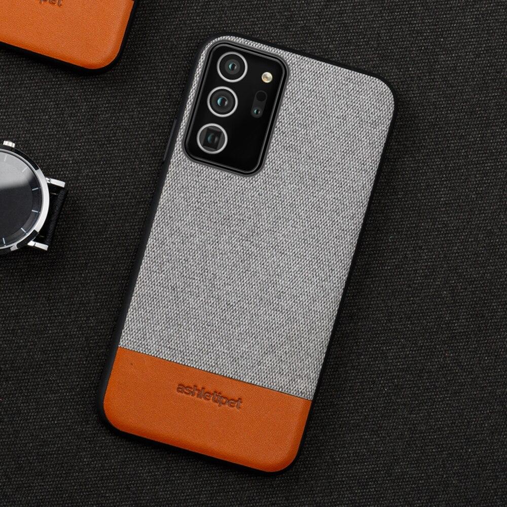 Холщовый + кожаный магнитный чехол для смартфона Samsung Galaxy Note 20 Ultra Note 10 9 8 S9 S20 S10 Plus A21s A51 A70