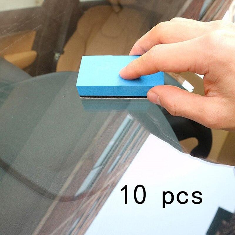 10 шт. автомобиль Керамика покрытие губка Стекло Nano воск пальто аппликатор полировальными колодками 8*4*2 см