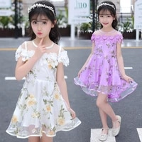 floral dress for girls 2020 summer girls dress party princess children dresses teen summer clothes for girls 4 6 8 10 12 years