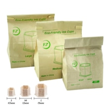 Eco-Friendly Tattoo & Permanent Makeup Pigment Ink Caps Disposable Recyclable Wheat Straw 10 12 15MM