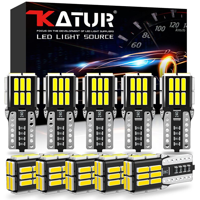 10 pces canbus t10 led w5w led carro dome lâmpada de leitura luz estacionamento turn signal bulbo 6000k branco 12v para mercedes benz vw bmw audi