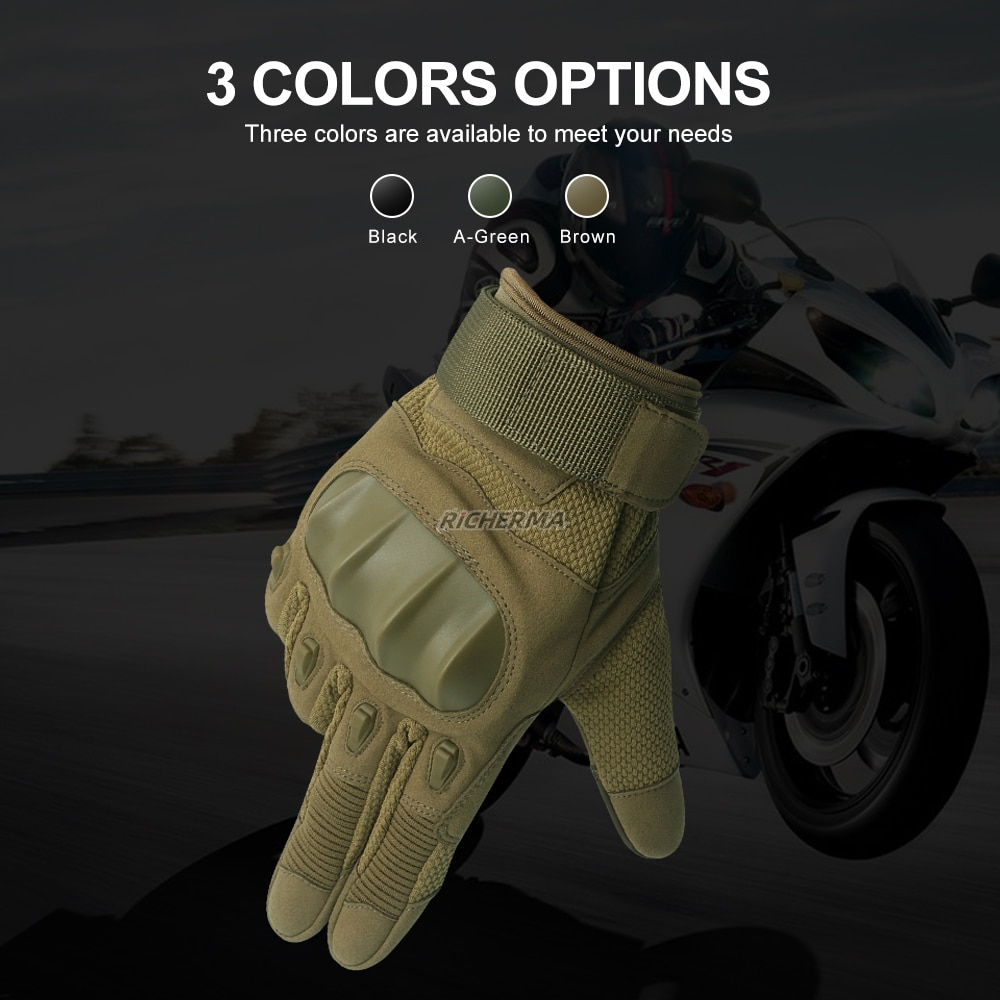 Durable Motorcycle Gloves Men Full Finger Hard Knuckles Military Gloves Touch Screen Non-slip Army Gloves Tactical Shooting Work enlarge