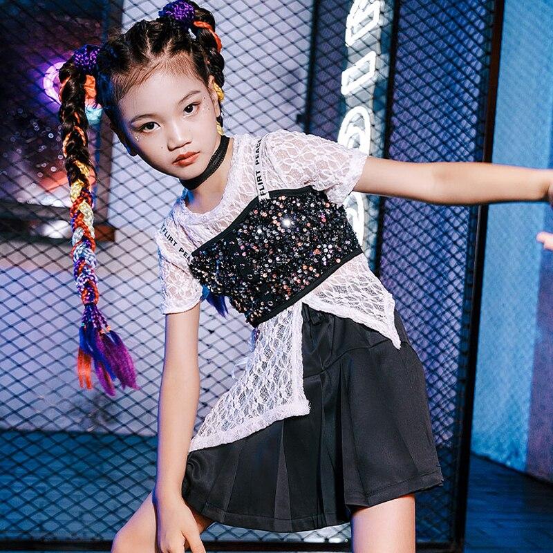 الترتر الجاز الرقص الملابس المنصة تظهر زي فتاة مجموعات مهرجان الملابس المشجع موحدة الهيب هوب راقصة الزي DL8225