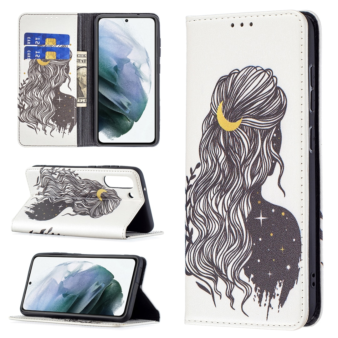 Flip Phone Case for Samsung Galaxy A82 A22 S21 FE Lite Card Slot Wallet Cover Full Protection Shockproof Painted Leather Fundas