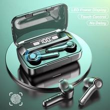 Bluetooth Wireless Headphones with 2200mAh Charging Case IPX5 Waterproof Sports TWS Bluetooth Earpho