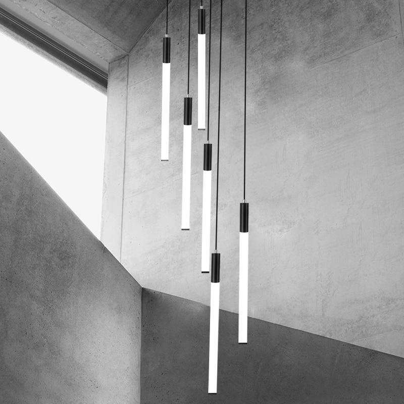 Длинные листка лотоса люстра современные светодиодные гостиная внутреннее освещение, люстры для гостиничного Холла спираль чердак люстра