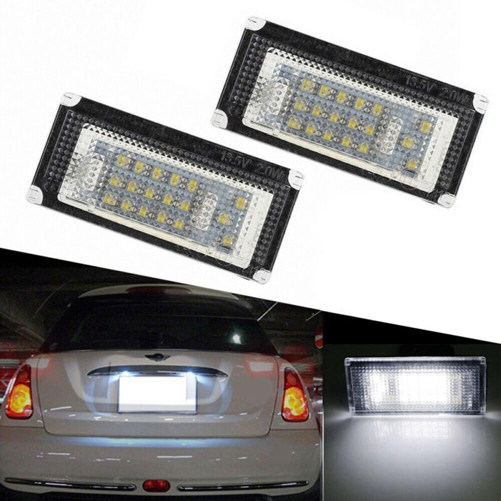 2 pçs carro conduziu a luz da lâmpada da placa de licença acessórios para bmw mini cobre r50 r52 r53