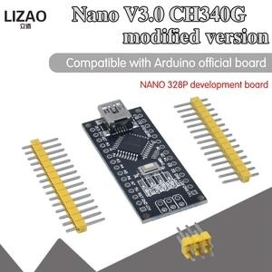 WAVGAT Nano Mini USB с Загрузчиком совместимый Nano 3,0 контроллер CH340 USB драйвер 12 МГц Nano v3.0 такой же, как ATMEGA328P