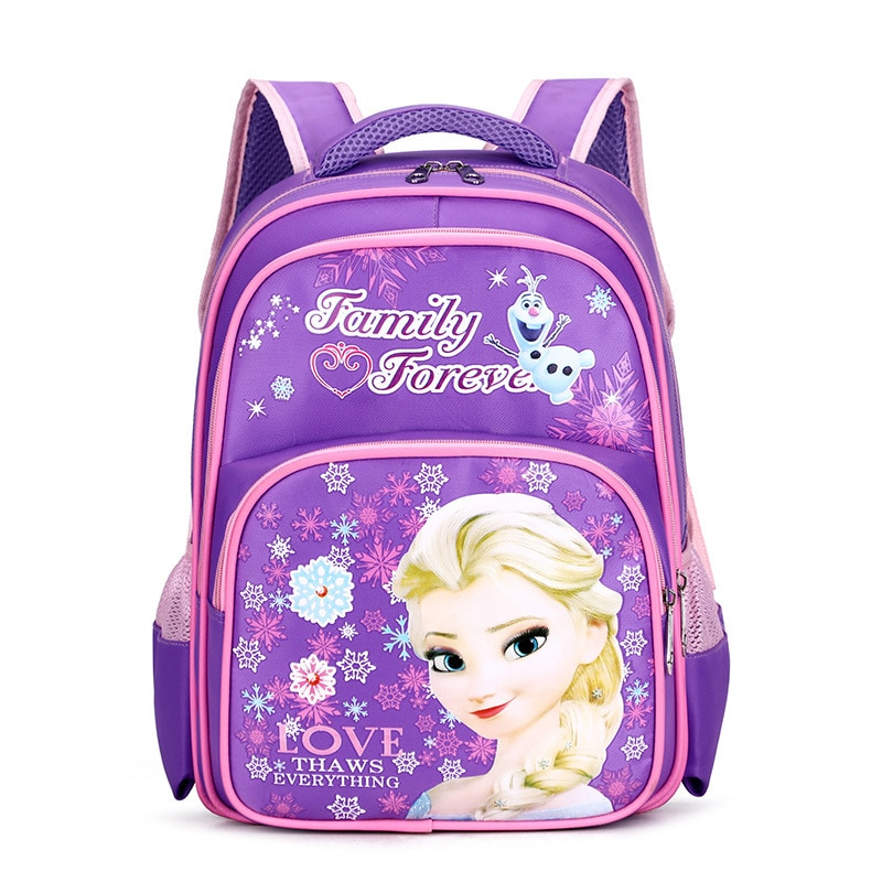 Disney kid plush bags Frozen Elsa backpack Kindergarten Sofia cartoon bag for School kid girl kid Backpack Primary student