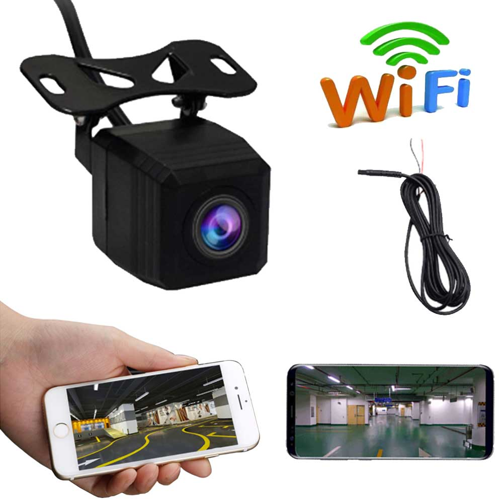 720P واي فاي سيارة الرؤية الخلفية كاميرا احتياطية عكس الجبهة الجانب عرض كاميرا لا سلكية للرؤية الليلية عكس اندفاعة كام ل IOS أندرويد