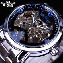 Механические Мужские часы winner, модные, для отдыха, темпераментные, полые, полностью автоматические