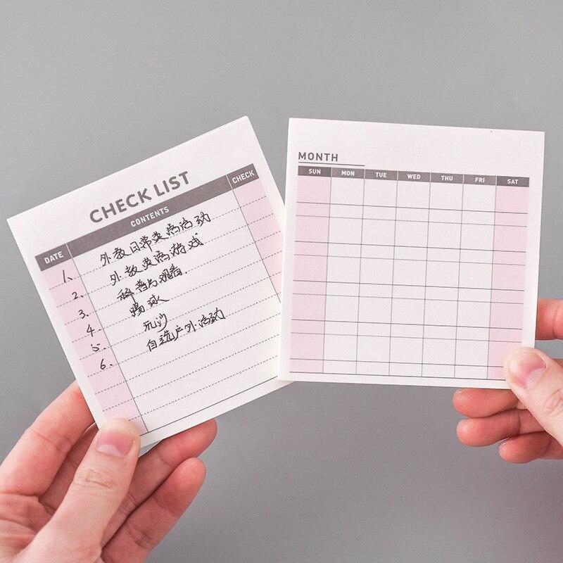 Pequeña Simple Noteook semanal Plan mensual Agenda lista de comprobación Bloc de notas papelería accesorios de oficina suministros escolares