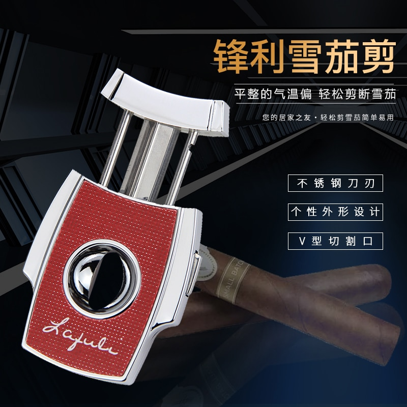V Shaped Blade Cigar Cutter Portable Stainless Steel Sharp Cool Gadgets Cigar Accessories Smoke Fumar Household Products DG50XJ enlarge