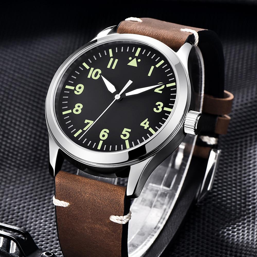 Japan Miyota Automatic Military Men Watch Luxury Brand Sport Design Male Clock Sapphire Luminous Leather Mechanical Wrist Watch enlarge