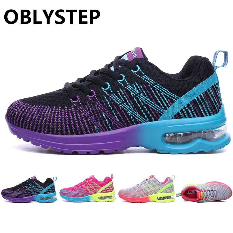 OBLYSTEP Women's Shoes 2020 Spring and Autumn Breathable Mesh Sports Shoes Ladies Casual Breathable Outdoor Jogging Shoes