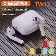 Original i12 TWS Wireless Bluetooth Earphones Stereo Earbuds Headset with Charging Box for Smart Pho