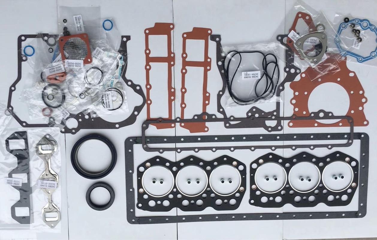 engine 4bd1t full gasket kit for hitachi ex120 2 ex120 3 excavator free shipping S6KT/S6K Engine Full Car Pad Full Sets repair kit for  Excavator 320C/200B/320D/