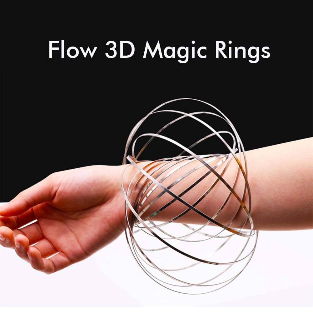 Anel de braço de aço inoxidável brinquedo pulseira de descompressão brinquedo multifunções pulseira de brinquedo fluido para o presente de natal
