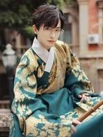 ming han clothing model changqing twirled men women with the same genuine original han clothing daily weaving gold dark patterns