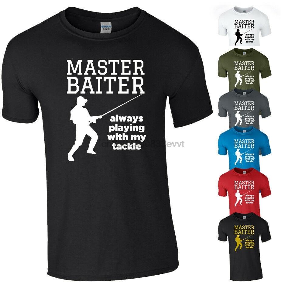 MASTER BAITER camiseta divertida pescador pescando aparejos cebo broma regalo nuevo