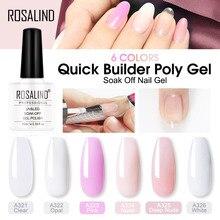 ROSALIND Poly gel Gel Für Nagel Verlängerung 10ml Semi Permanent Nagellack UV Nägel Kunst Poly Set builder Gel lack-polnisch