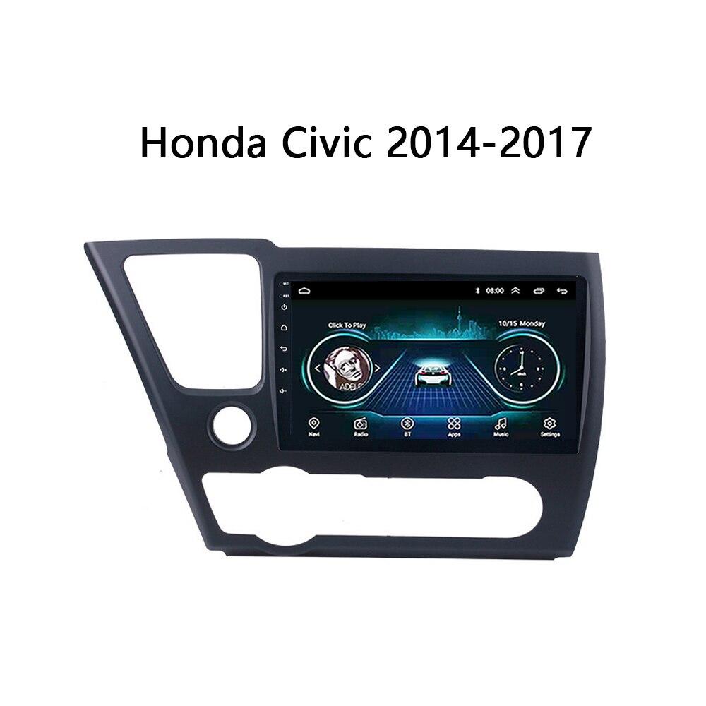 Android 8,1 GPS de navegación del coche para 2014-2017 Honda Civic fit magnitol reproductor Multimedia Video radio Bluetooth WIFI