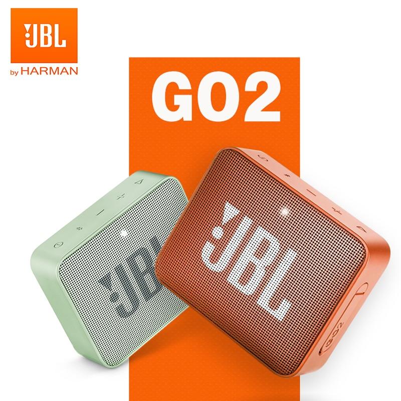 JBL GO2 Wireless Bluetooth Speaker IPX7 Waterproof Mini Portable Speakers Go 2 Sports Rechargeable Battery with Mic Deep Bass