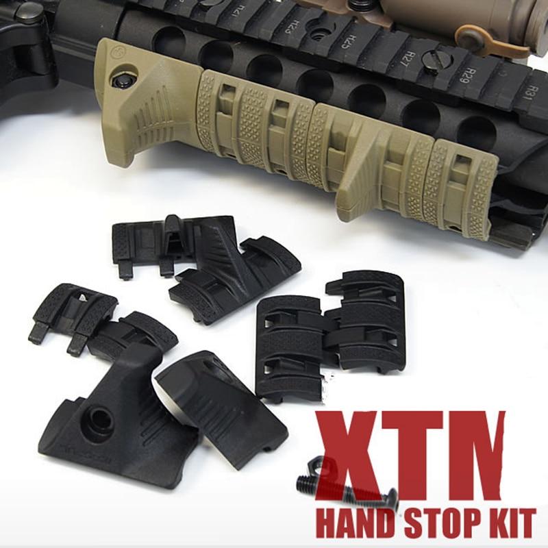 Tactical Hand Stop Kit Picatinny Weaver Rail Panels Set Handguard Rail Cover Panel Airsoft Parts Hunting Rifle Gun Accessories