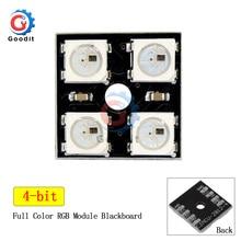 WS2812B 2x2 4-Bit polychrome matrice de LED 5050 RGB lampe à LED panneau lumineux pour Arduino 2*2 lampes