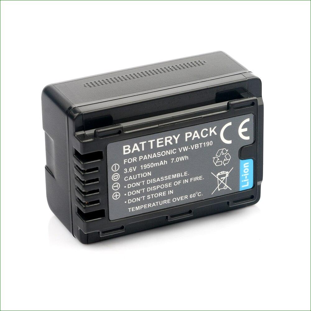 LANFULANG VW-VBT190 VW-VBY100 batería para Panasonic HC-VXF1 HC-VXF11 HC-VXF995 HC-VXF990 HC-VZX1 VBT190 VBT380 cargador