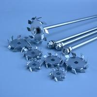 Laboratory 304 stainless steel stir bar stirrer dispersion diskround plate dispersing Propeller stirring blade mixer