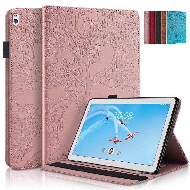 TB-X505X 3d árvore em relevo caso tablet para lenovo m10 hd TB-X505F TB-X505L capa carteira para lenovo m10 TB-X605F x605m x605n
