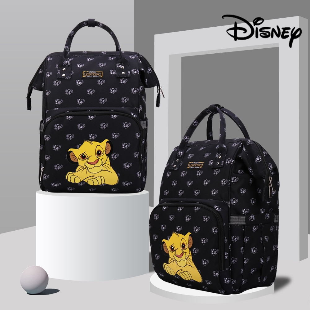 Disney Lion King Simba Diaper Bag Baby Backpack Travel Mommy Bag Stroller Baby Carriage Mommy Maternity Diaper Bag Large Capacit