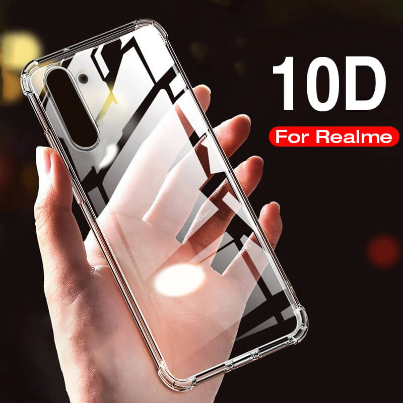 Lujosa funda de teléfono con tapa para Oppo Realme 6 Pro, suave, transparente, a prueba de golpes, fundas de cubierta trasera en Realmi 6 Pro, funda protectora