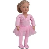 18 inch girls doll clothes pink ballet outfit is a gymnastic outfit american newborn dress baby toys fit 43 cm baby dolls c875
