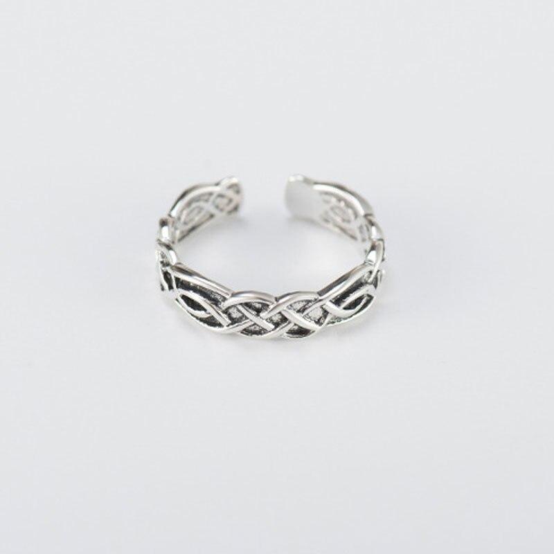 Оригинальные женские и мужские серебряные кольца YPAY, винтажные кольца на палец из конопляной веревки, тонкие ювелирные изделия в подарок, YMR310