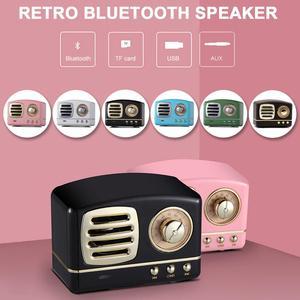 Flyover Retro Bluetooth Speakers Retro Radio Shape Rechargeable Portable Mini Speaker Support TF/AUX/USB