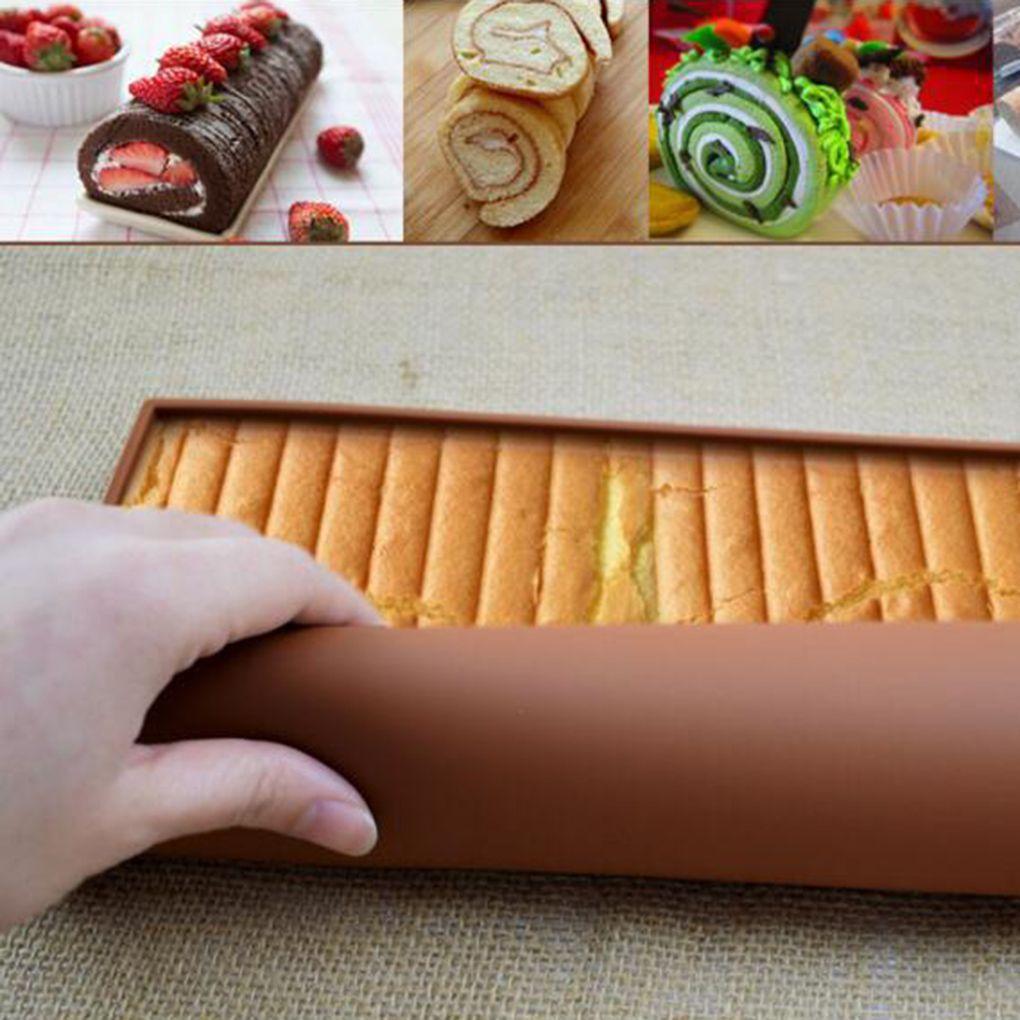 1pc שוויצרית רול מחצלות Nonstick מטבח אביזרי עוגת לחמניות תבניות עוגת כרית סיליקון אפיית שטיח מחצלת מאפה כלים