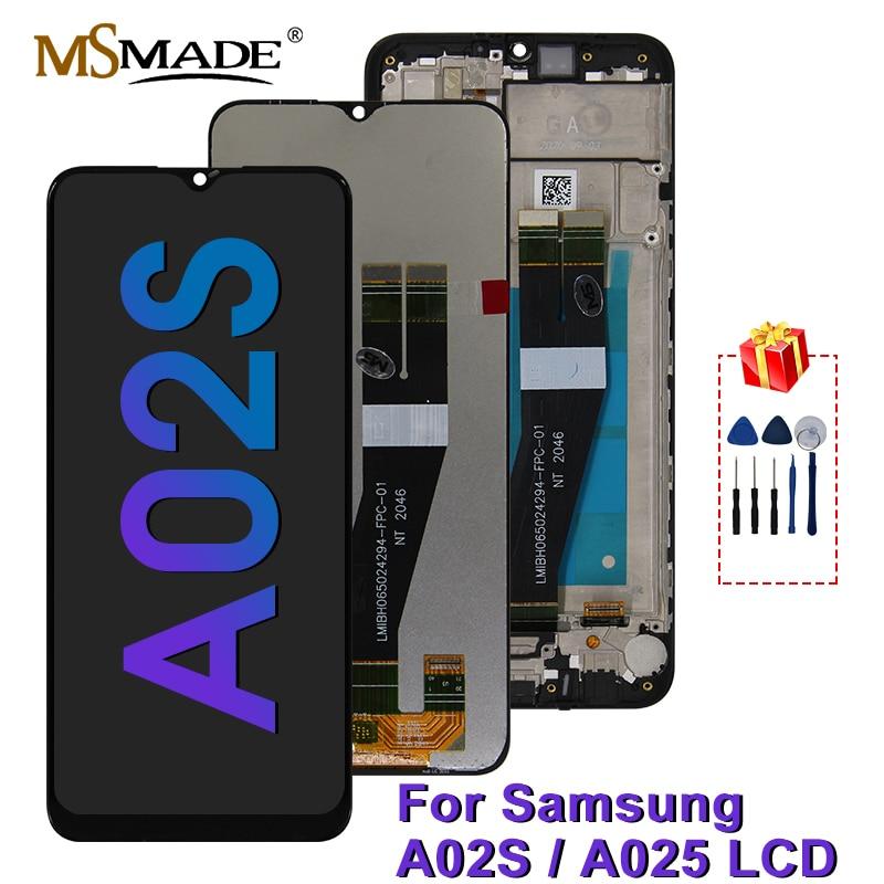 الأصلي لسامسونج غالاكسي A02S عرض SM-A025F/DS شاشة LCD تعمل باللمس محول الأرقام أجزاء لسامسونج A02S LCD SM-A025M