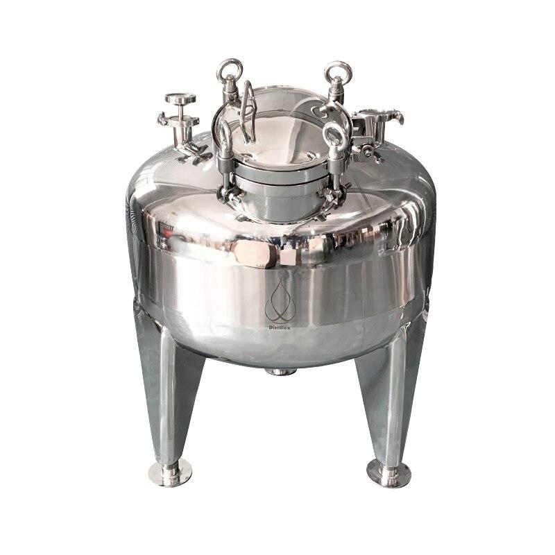 Olla de 100L, Caldera, tanque, fermentador. Destilación, rectificación, acero sanitario 304. Presión de trabajo 2Bar