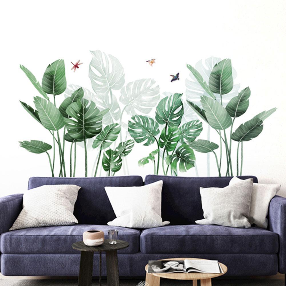 Pegatinas de fondo para pared de Cactus, planta, TV, sofá, decoración para el hogar, sala de estar, calcomanía de pared 3D, Mural Autocollant